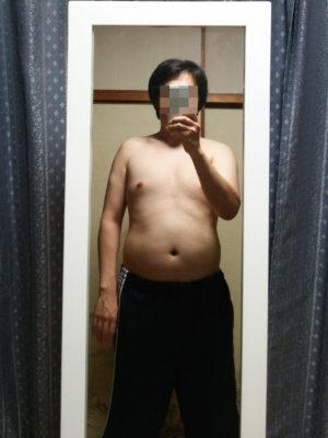 ダイエット前に正面から自撮りした写真
