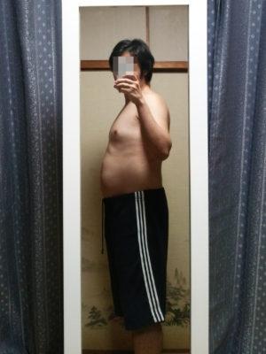 ダイエット前に自撮りした横からの写真