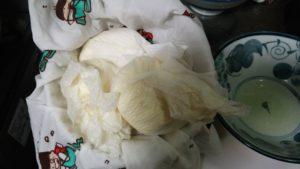 手作り豆乳ローションの残り粕