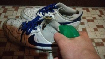 ファブリーズを臭そうな靴にふり掛ける