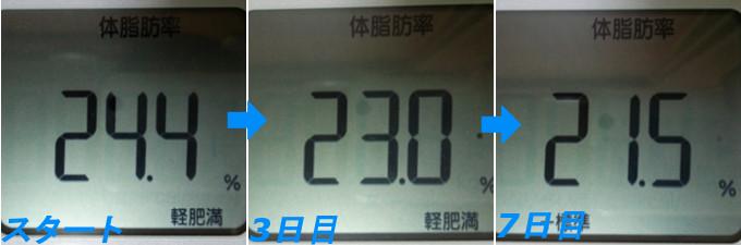 ファスティングによる体脂肪率の変化証拠